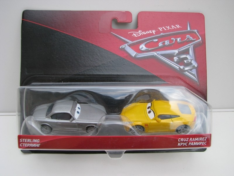 Duo Pack Sterling a Cruz Ramirez autíčka Cars Disney Pixar Cars 3 DXV02